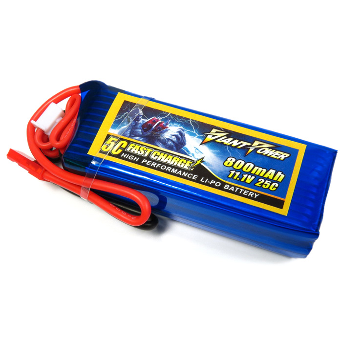 Giant Power 800mAh 11.1V 25C Battery for Big Lama Remote Control Helicopter