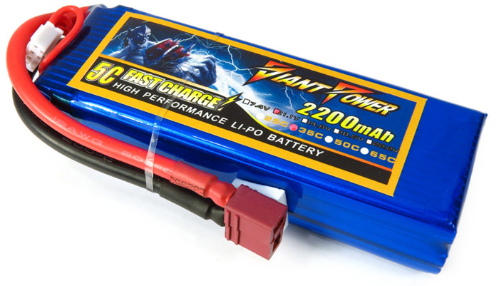 Giant Power 2200mAh 11.1V 35C Low Self-discharge Rate Battery for T - REX 450 Remote Control Helicopter