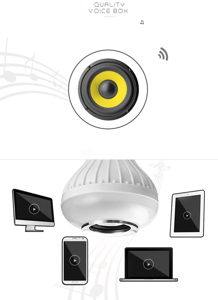 BRELONG E27 12W Bluetooth 3.0 12 x COB LED Bulb RGB Music Light Speaker with 24 Keys Remote Controller ( 100 - 240V )