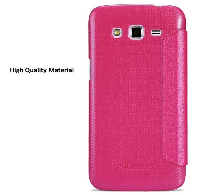 Nillkin PU and PC Material Solid Color Cover Case with View Window for Samsung Galaxy Grand 2 G7106