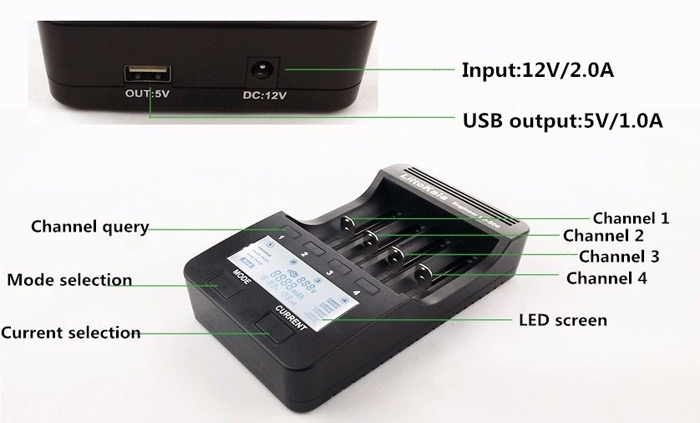 Liitokala Lii - 500 Smart LCD Battery Charger for 18650 / 26650 / 16340 / 14500 / 10440 Battery