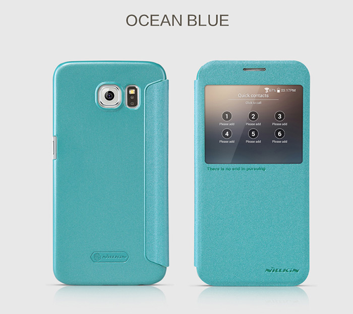 Nillkin PU and PC Material Smart Sleep Cover Case with View Window for Samsung Galaxy S6 G920F