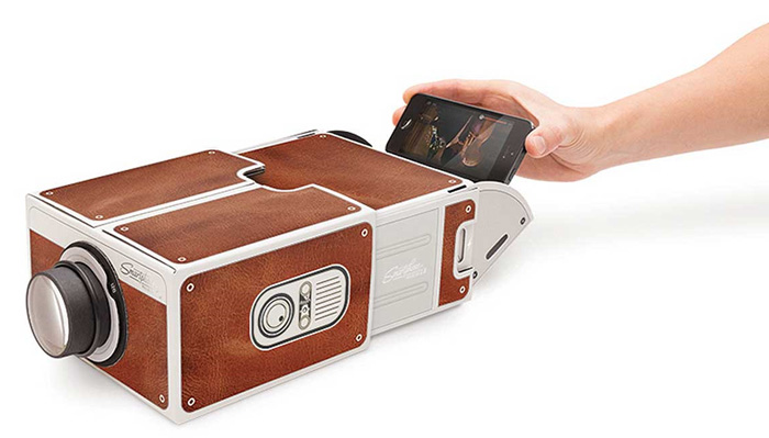 Innovative Full Function DIY Cardboard Smartphone Projector 2.0 Simple Installation Version for Home Party