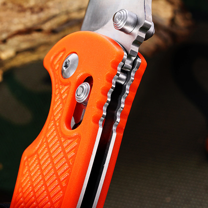 Ganzo G726M - GR Foldable Knife with Clip and Axis Locking for Outdoor Climbing and Home Use