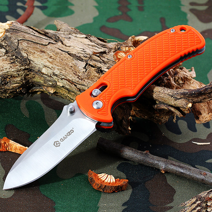 Ganzo G726M - BK Foldable Knife with Axis Locking and Clip for Outdoor Climbing and Home Use