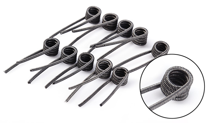 Authentic Youde UD Clapton Coils 50 Pieces 0.6ohm Kanthal A1 Twist Wire Heating Wire for RBA RDA RTA