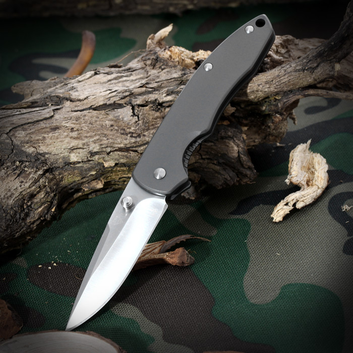 Sanrenmu 7073 LUC - SK Line Locking Foldable Knife for Outdoor Camping and Mountain Climbing