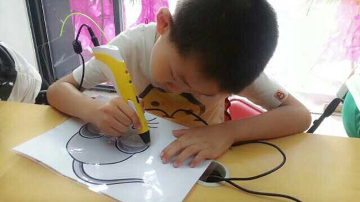 Innovative 3D Printer Pen Three - Dimensional Painting Drawing for Gift ( 100 - 240V )