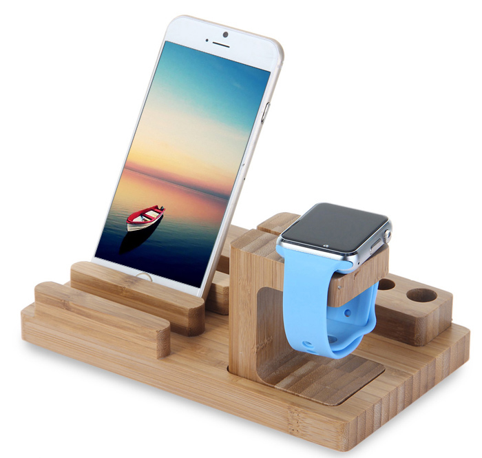 3 In 1 Bamboo Wood Charging Dock 12 06 Online Shopping