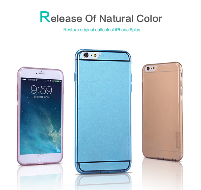 Nillkin Ultra Thin TPU Protective Back Cover Case with Transparent Design for iPhone 6 Plus - 5.5 inch