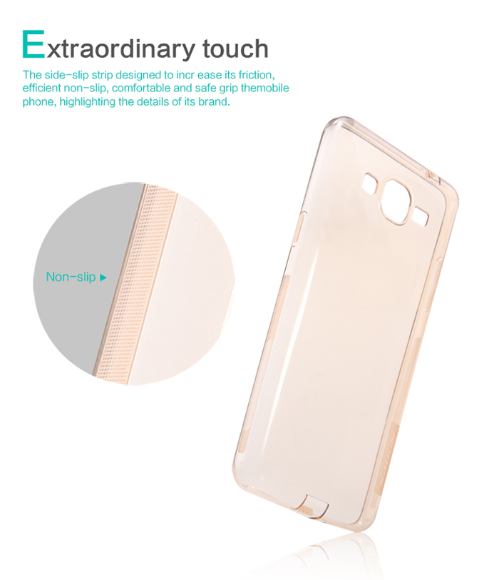 Nillkin Ultra Thin TPU Protective Back Cover Case with Transparent Design for Samsung Galaxy Grand Prime G5308W