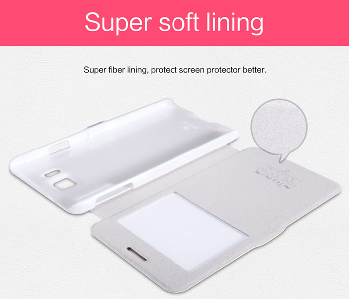 Nillkin PU and Plastic Material Smart Sleep Cover Case with View Window for Samsung Galaxy Alpha G850F