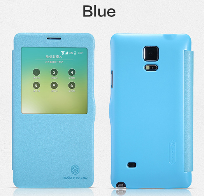 Nillkin PU and Plastic Material Smart Sleep Cover Case with View Window for Samsung Galaxy Note 4 N9100