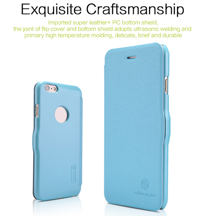 Nillkin PU and Plastic Material Solid Color Cover Case with Card Holder for iPhone 6 Plus - 5.5 inch