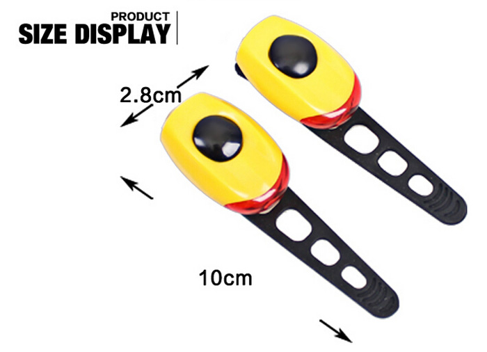 KINGSIR 2pcs Frog Shaped 3 Modes Bicycle Light with High Elastic Silicone Strap for Night Riding