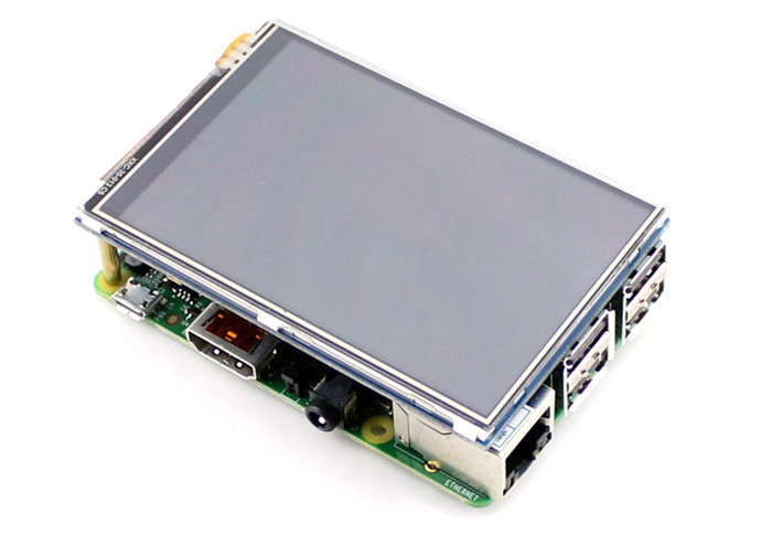 Waveshare 3.5 inch 320 x 480 Pixel Resistive LCD Touch Screen Module for Raspberry Pi 2 B / B+