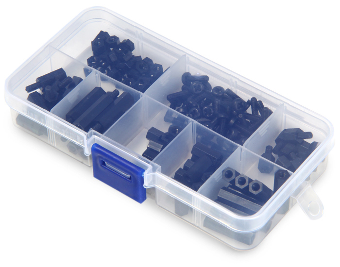 M3 Nylon Spacer Hex Screws Accessories Set Compatible with Multicopter RC Model - 160PCS