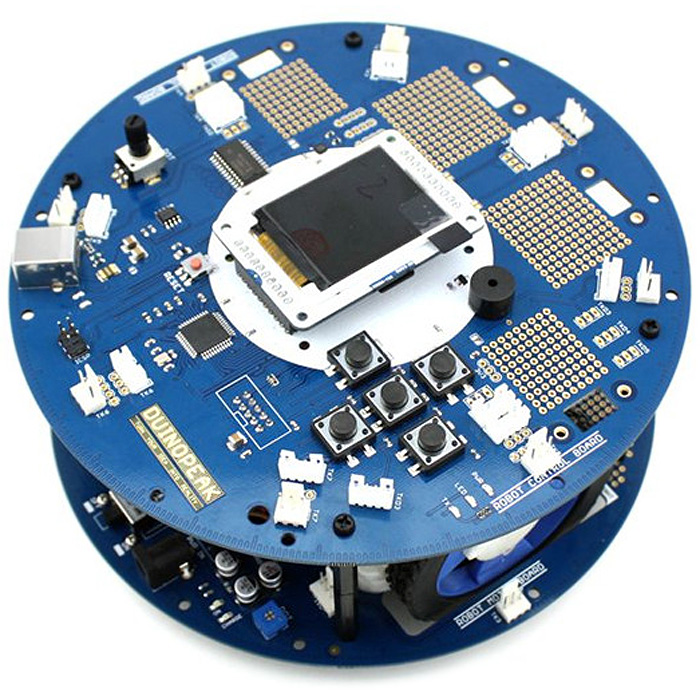 DC 40mA LCD LED Duinopeak Robot Board with Wheel for Arduino