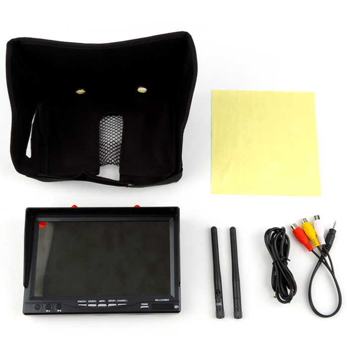 RX - LCD5802 FPV Spare Part 5.8G 7 inch Screen High Light Monitor with Built-in Battery