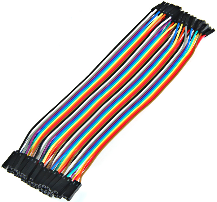 40PCS Dupont 20cm Female to Female Jumper Wire 1P - 1P Cable for Arduino Breadboard