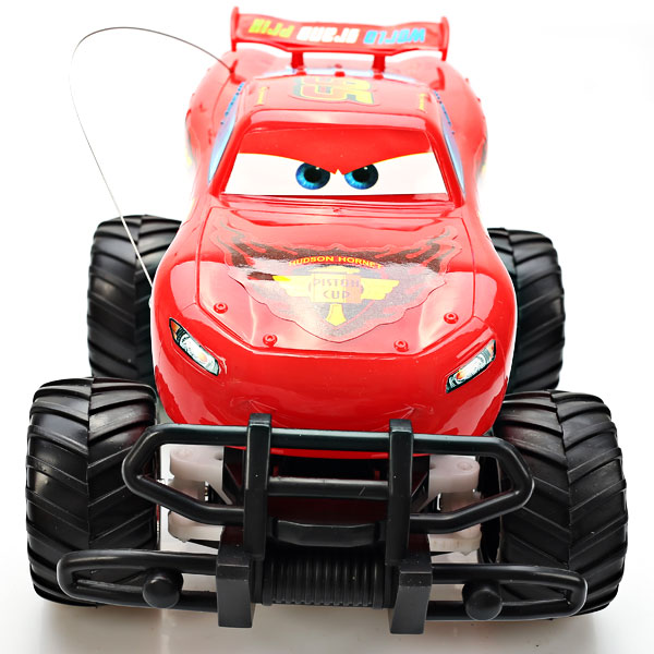 NO.6605 Perfect Performance 27MHz Lightning McQueen Rip Stick Racers R/C Car Toy - Red