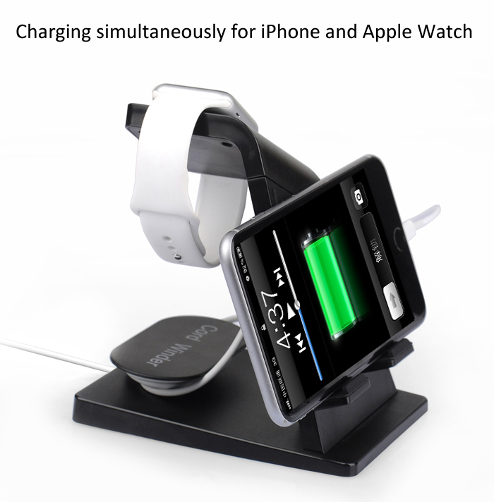 Itian A16 Charger Stand Mobile Phone Power Adapter with Dual USB Port Desing for Apple Watch / iPhone 6S 6 Plus / iPad etc.