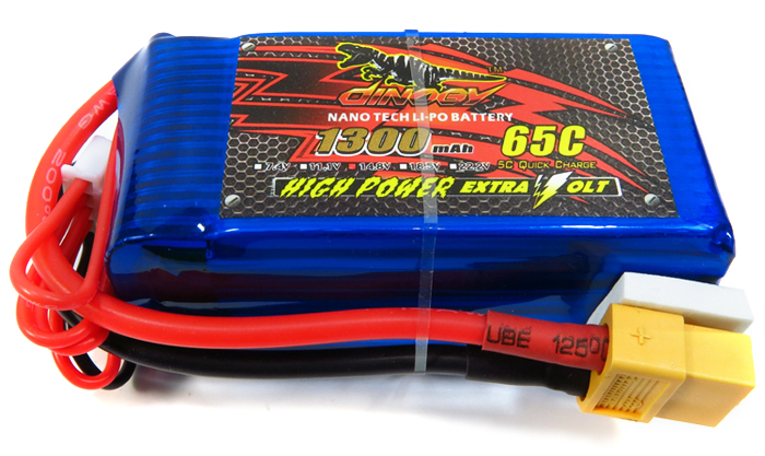 DINOGY 1300mAh 14.8V 4S 65C Li-po Battery RC Quadcopter / Multicopter Spare Part