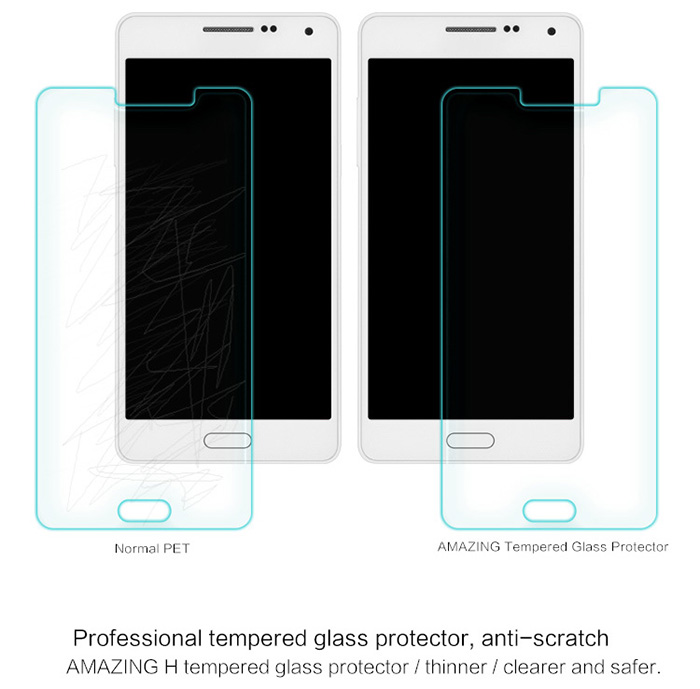 Nillkin 9H Super Hardness 0.33mm Ultrathin Tempered Glass Screen Flim with Camera Film Set for Samsung Galaxy A5 A5000