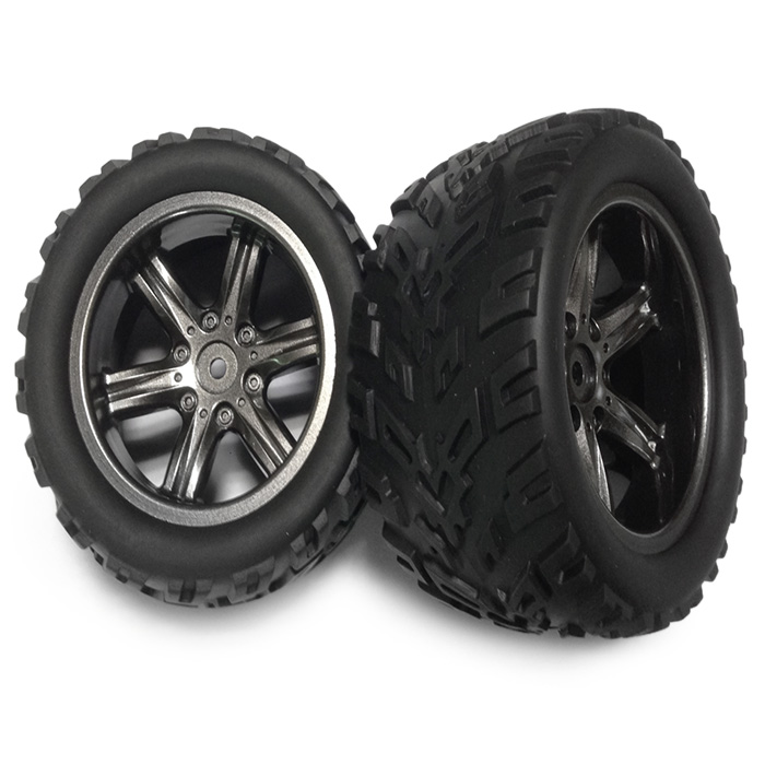 2Pcs 9116 RC Monster Style 16 - ZJ01 Tire Truck Spare Parts