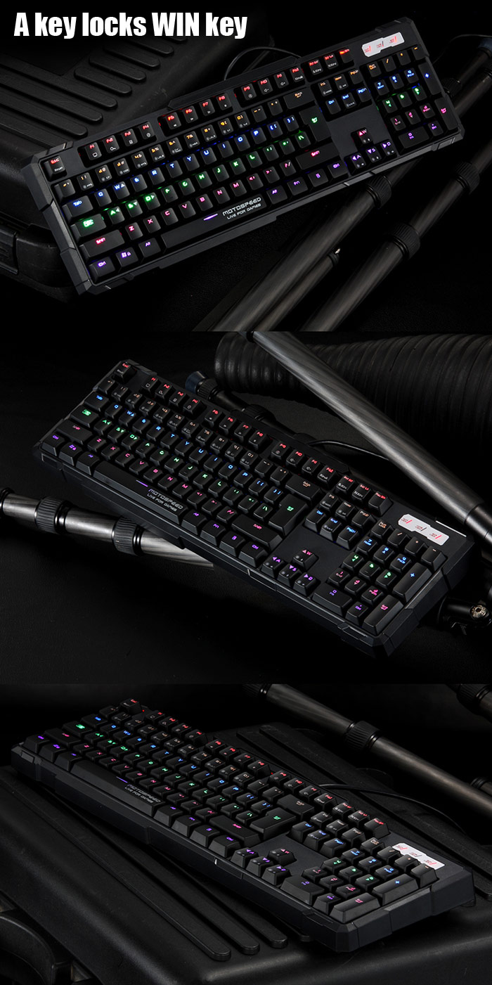 MOTOSPEED K81 USB Wired Mechanical Gaming Esport Keyboard with Tactile High-speed 104 Keys RGB LED Fully Backlit for Gamers