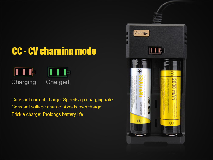 Valon H2 2 Channels Battery Charger for Lithium-ion Batteries