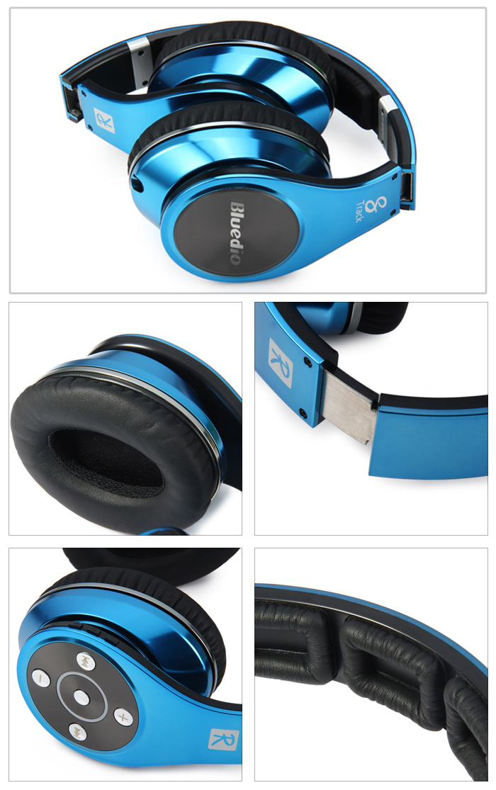 Bluedio R + Legend Version Bluetooth V4.0 Wireless Stereo Headphone Foldable Headset Earphone Support Micro SD Card / NFC for Smartphones
