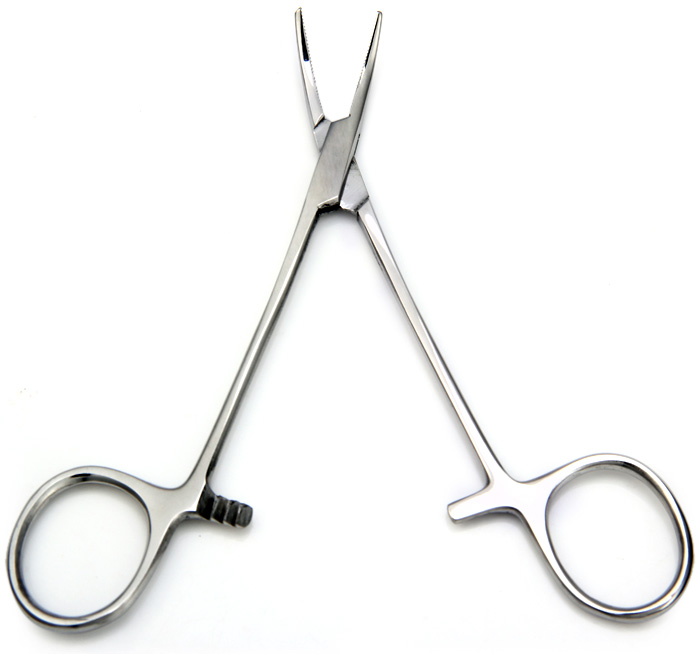 Stainless SteelHemostatic Forcep Straight Toothed Pets Dogs Scissors