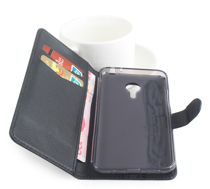 MEIZU MX5 Fine Leather Full Body Protective Case with Stand and Card Holder