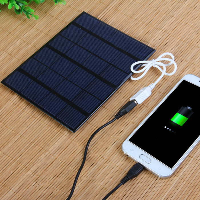 3.5W 6V Solar Panel Mobile Phone Power Bank USB Charger Outdoor Camping Necessary