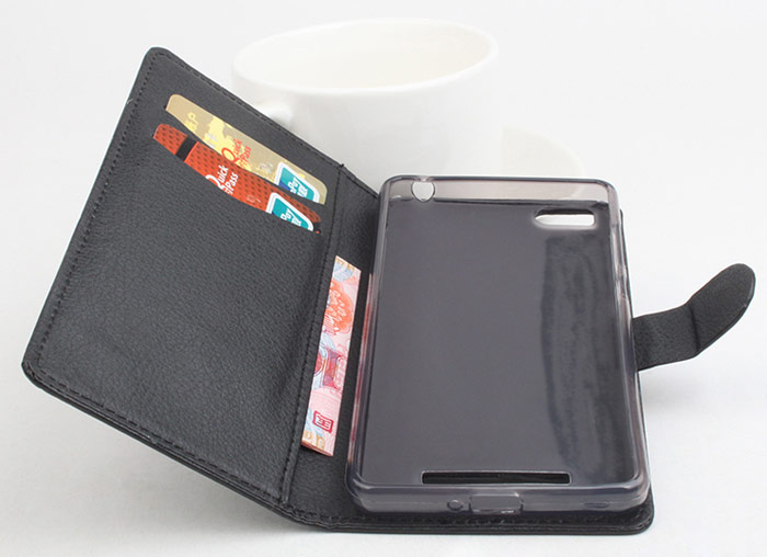 PU Leather Stand Function Protective Case with Card Slot for Xiaomi MI4I