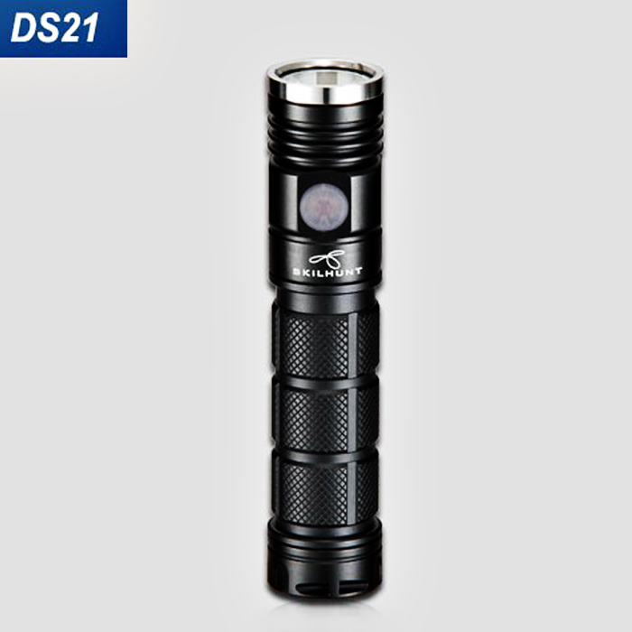 Skilhunt DS21 900LM Cree XP - L 5 Modes EDC LED Flashlight Headlamp ( 1 x 18650 / 2 x CR123A or RCR123 Battery )