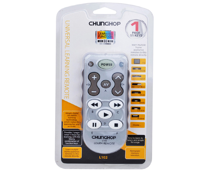 CHUNGHOP L102 Universal Single 11 Key Learning IR Remote Control for DVD Player
