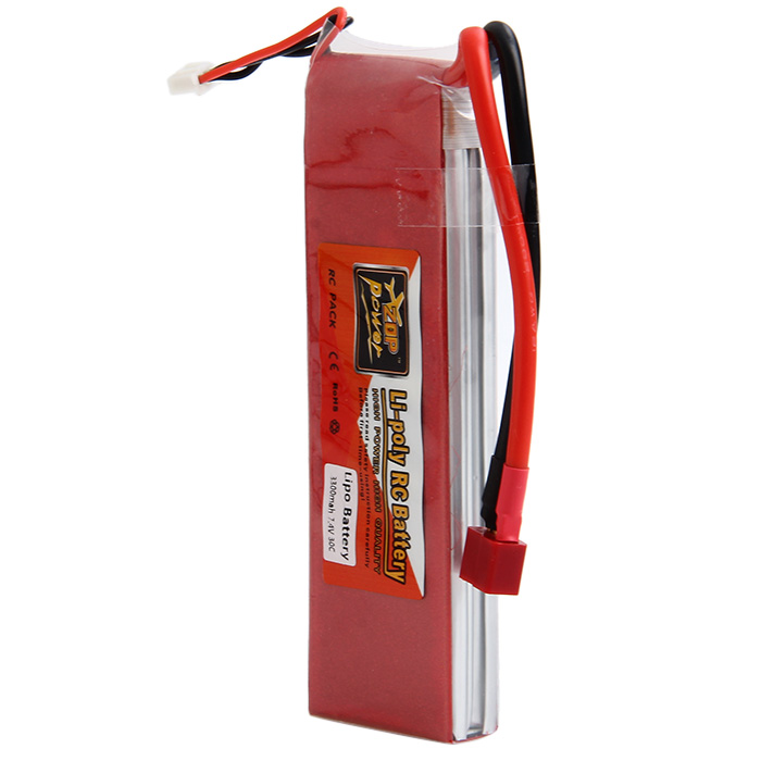 ZOP Power 7.4V 3300mAh 30C Lipo Battery T Plug