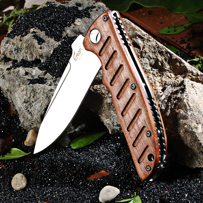 Enlan EL - 01 Liner Lock Folding Knife with 8Cr13Mov Steel Blade for Outdoor Camping / Hiking