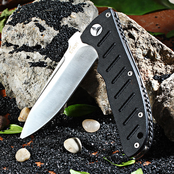 Enlan EL - 01A Liner Lock Folding Knife with 8Cr13Mov Steel Blade for Outdoor Camping / Hiking