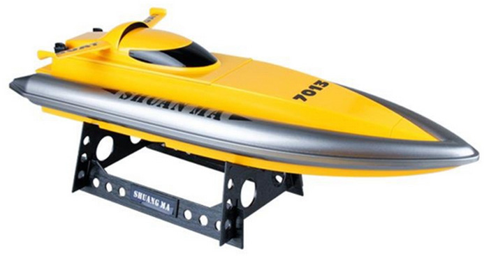 Shuang Ma 7013 Upgrade 2.4GHz 3CH Electric RC Waterproof Racing Boat with Display Rack