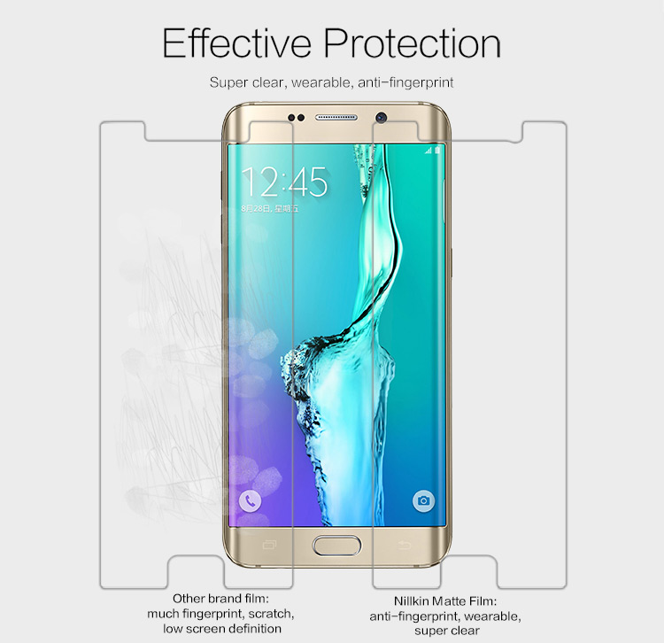 Nillkin Dull Polish Matte Anti-glare Screen Protective Flim with High Definition Rear Back Film for Samsung Galaxy S6 Edge Plus