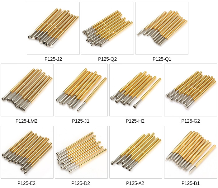 100PCS P125 - H2 Spring PCB Test Probe Pin 2.5mm for Testing Mould Chip Circuit Board