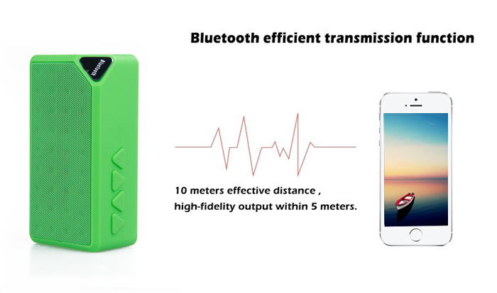 X3 Wireless Mini Bluetooth V2.1 Speaker Portable Speaker for Mobile-phone and TF Card