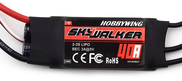 Hobbywing Skywalker 40A Electronic Speed Controller for RC Airplane