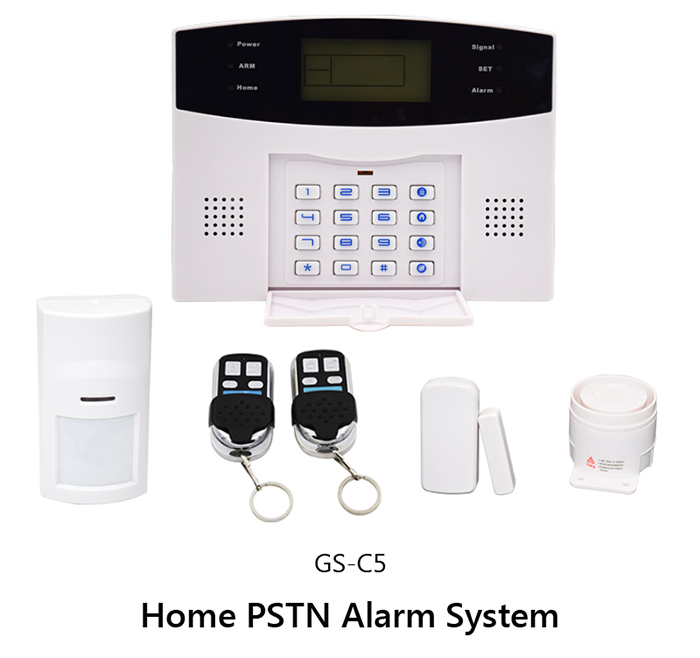 GS-C5 Home PSTN Alarm System with Blue Backlighting Graphic Display for Home Security