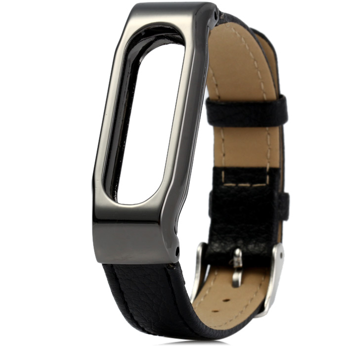 Leather Watch Band Anti Lost Design for Xiaomi Miband 1 / 1S