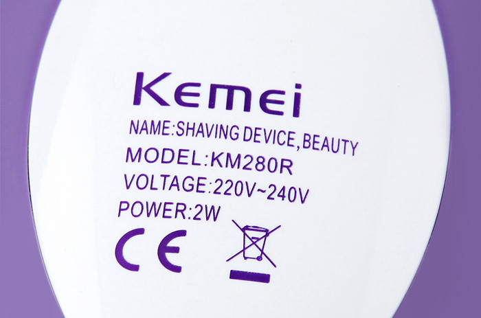 Kemei KM - 280R 3 in 1 Women Rechargeable Epilator Blade Electric Shaver Hair Removal Female Fashion Tool
