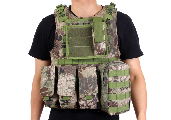 Amphibious Combat Tactical Vest with Removable Rubber Sheet for Outdoor CS Game